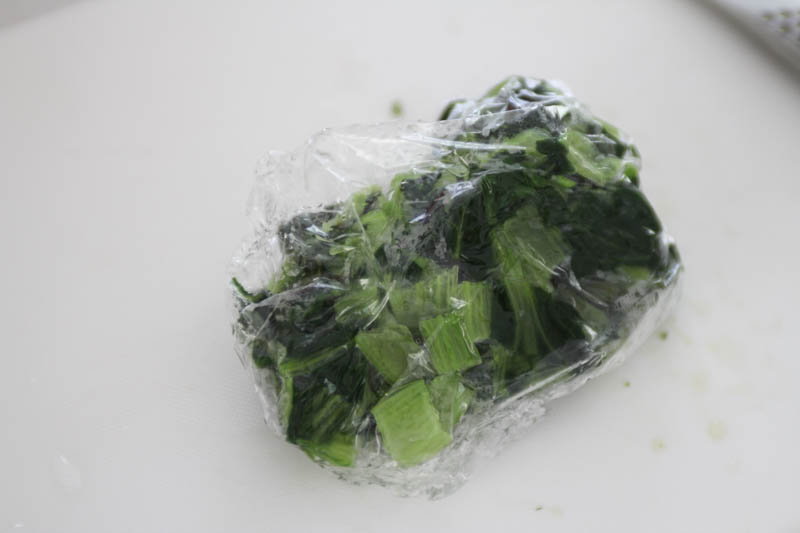大葉のスムージー(野菜フルーツジュース)ー小松菜