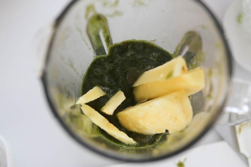 大葉のスムージー(野菜フルーツジュース)ミキサー6