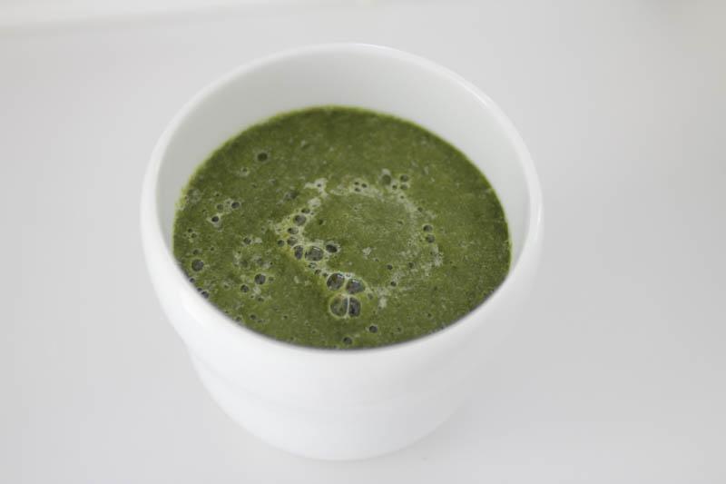 大葉のスムージー(野菜フルーツジュース)