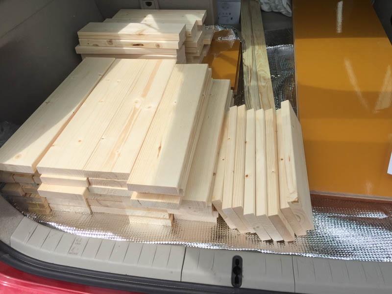 カットされた木材