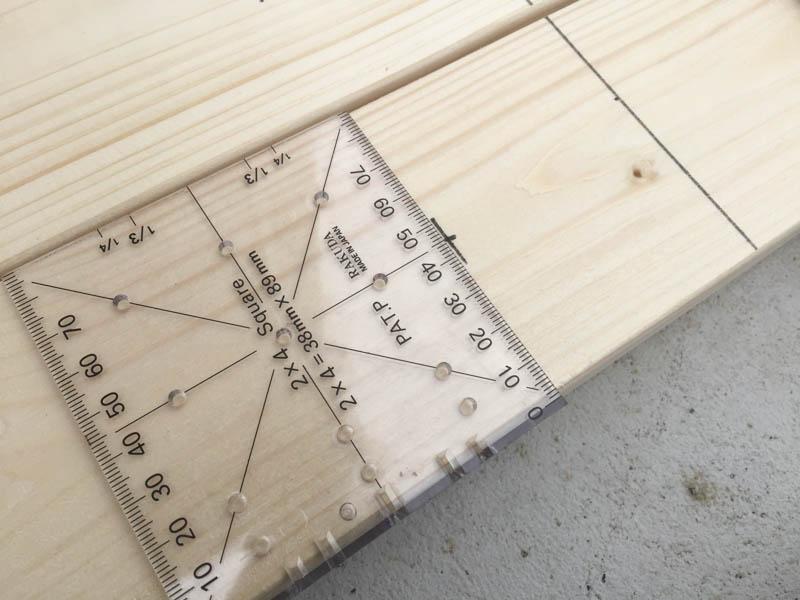 ツーバイフォー(2x4)定規