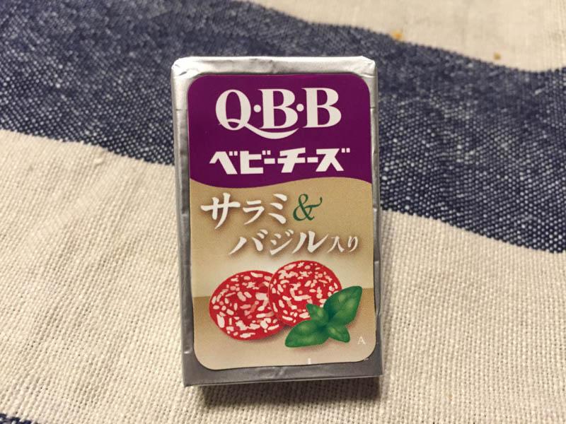 QBBベビーチーズ サラミ&バジル入り 外観