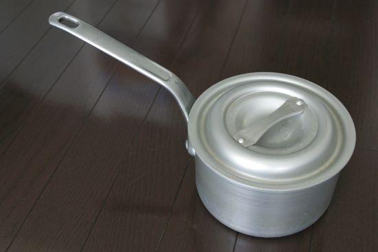 アルミスープパン アルミ 片手 深型鍋