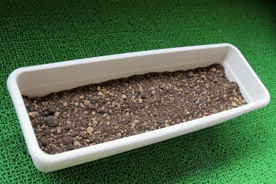 4種類の土を混ぜてハーブに最適な土を作ります